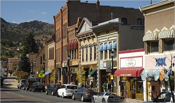 Manitou Ave. in the Historic district of Manitou Springs  (Source: Michael Brands for The New York Times)