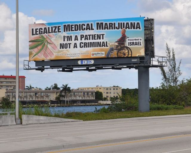 More than two years ago signs like this one in Pompano Beach were put up in Florida, in anticipation of Amendment 2, to be voted on today, November 4