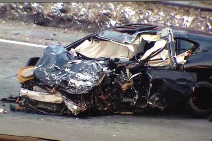 Wrong way crash killed an off-duty policeman on in New York. Photo: Westchester12 News